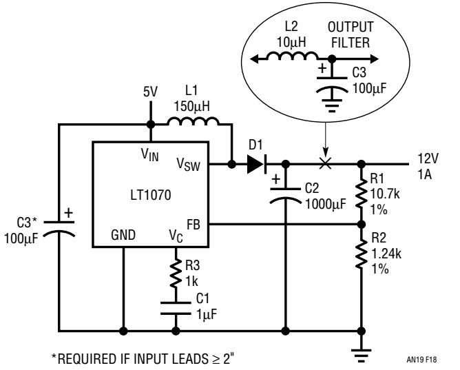 Boost reg boost regulators are not short circuit protected because the current steering diode d1 connects the input to the output the lt1070 will not be harmed for publicscrutiny Gallery